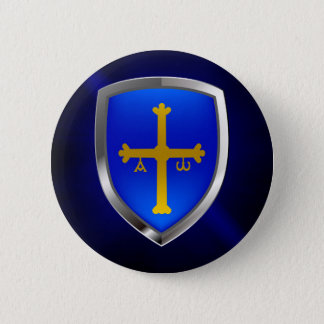 Asturias Metallic Emblem 2 Inch Round Button