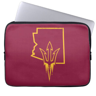 ASU   Classic State Logo Laptop Sleeve