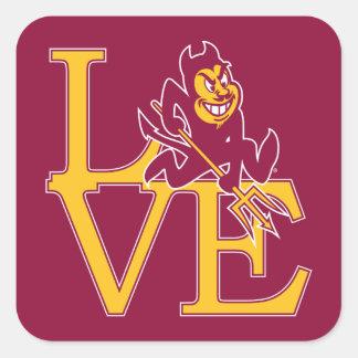 ASU Love Square Sticker