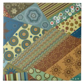 Asymmetric Patchwork Pattern Tile