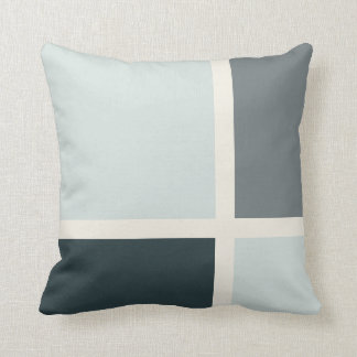 Asymmetric Square & Rectangle Pattern Pillow 2