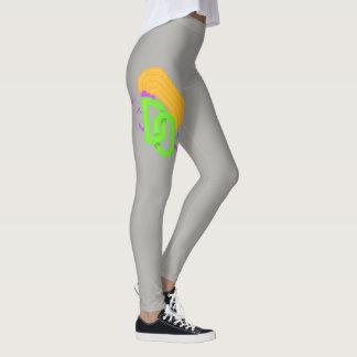 Asymmetrical Grey Dreaded Opinions Logo Leggings