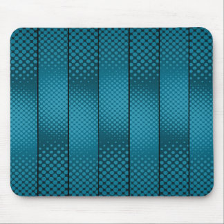 Asymmetrical Light Blue Polka Dots Mouse Pad