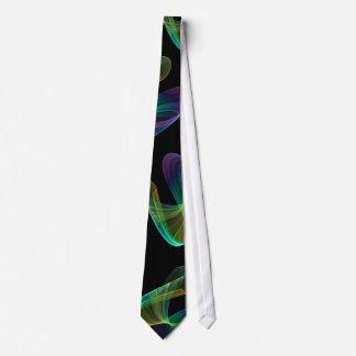 Asymmetrical Rainbow Swirl Tie