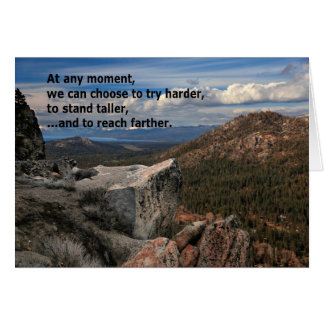 At Any Moment...Motivational Card
