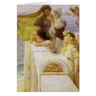 At Aphrodite's Cradle by Sir Lawrence Alma Tadema Card