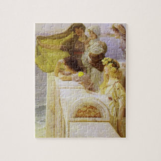 At Aphrodite's Cradle by Sir Lawrence Alma Tadema Jigsaw Puzzle