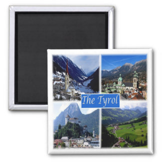 AT * Austria - The Tyrol Square Magnet