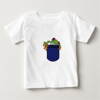 AT- Baby Froggie in a Pocket Baby T-Shirt