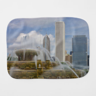 At Buckingham Fountain Burp Cloth