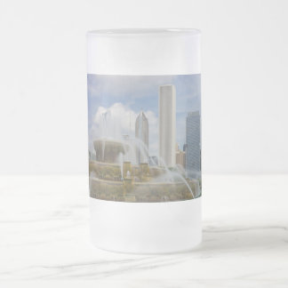 At Buckingham Fountain Frosted Glass Beer Mug
