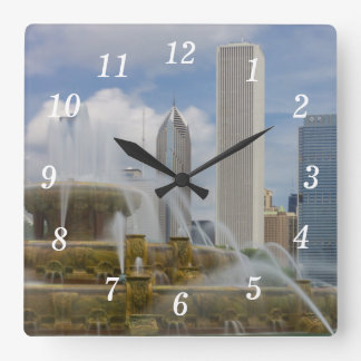 At Buckingham Fountain Square Wall Clock