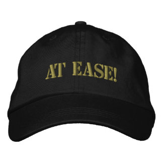 AT EASE! EMBROIDERED HAT