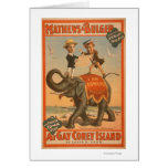 """""""At gay Coney Island"""" Musical Comedy Poster #3 Card"""
