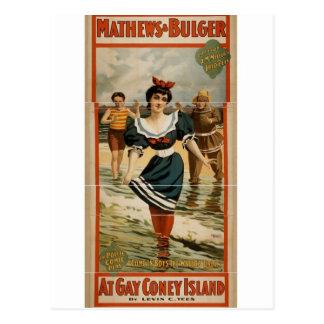 At Gay Coney Island Postcard