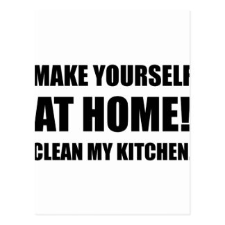 At Home Clean My Kitchen Postcard