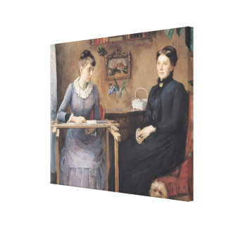 At Home or Intimacy, 1885 Gallery Wrapped Canvas