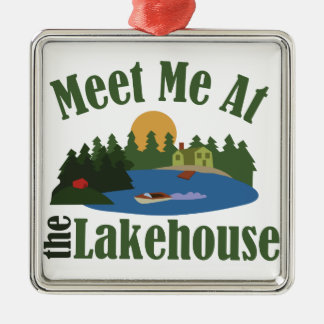 At Lake House Metal Ornament