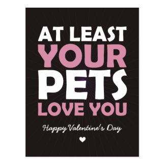 At Least Your Pets Love You Post Card