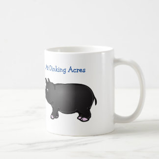 At Oinking Acres, Black Mini Pig Mug