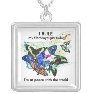 At peace with the world: silver plated necklace