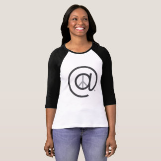 At Peace womens Ragline Baseball Tshirt
