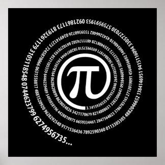 At Pi Sign, Spiral Version Poster