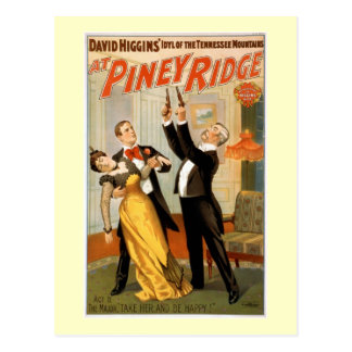 At Piney Ridge Vintage Theatre Poster Postcard
