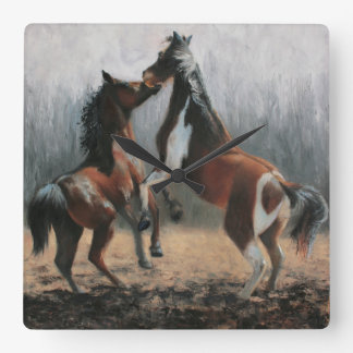 """At Play"" Horse Clock - by Artist Terri Meyer"