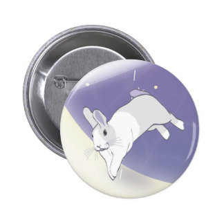 AT PLAY IN THE COSMOS 2 INCH ROUND BUTTON