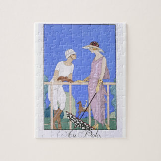 At Polo, 1920-29 (pochoir print) Jigsaw Puzzle