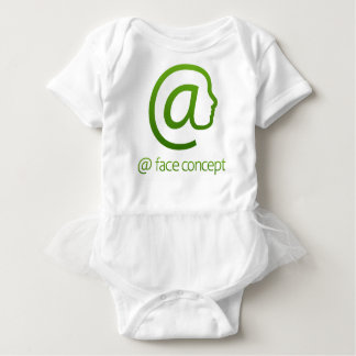 At Sign Face Concept Baby Bodysuit