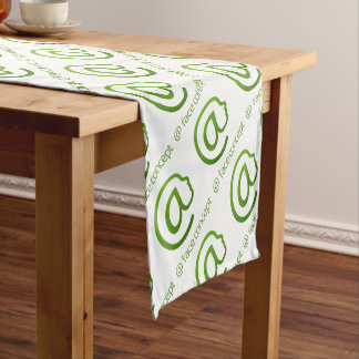 At Sign Face Concept Short Table Runner