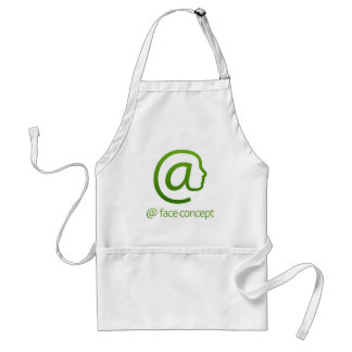 At Sign Face Concept Standard Apron