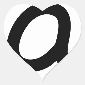 At Symbol Heart Sticker