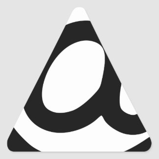At Symbol Triangle Sticker