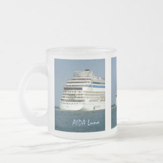 At the Back Custom Frosted Glass Coffee Mug