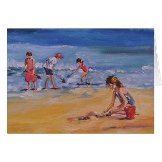 At the beach card