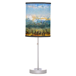 At the beach desk lamps