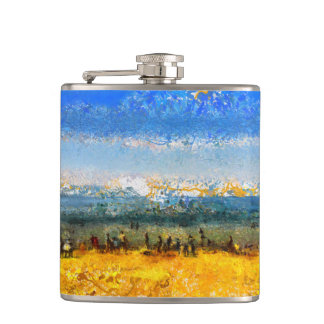 At the beach hip flask