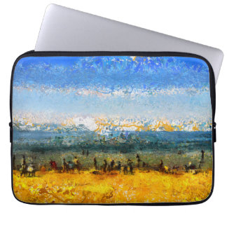 At the beach laptop sleeve