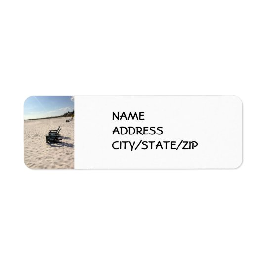 AT THE BEACH RETURN ADDRESS LABELS