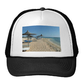 At the beach trucker hat