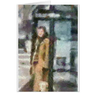 At the Bus Stop Card