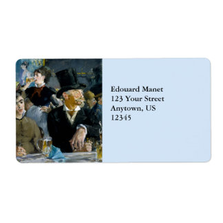 At the Cafe by Edouard Manet Shipping Label