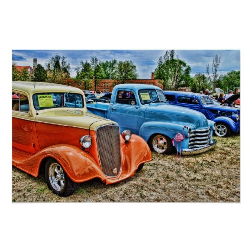 At the car show posters