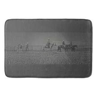 At the End of the Day Bath Mat Western Cowboy