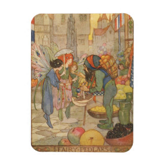 At the Fairy Market, Rectangular Photo Magnet