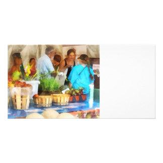 At the Farmer s Market Custom Photo Card
