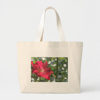 At the Hiroshima Usita's rose garden deep-red Large Tote Bag